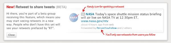 Twitter Retweet Screenshot